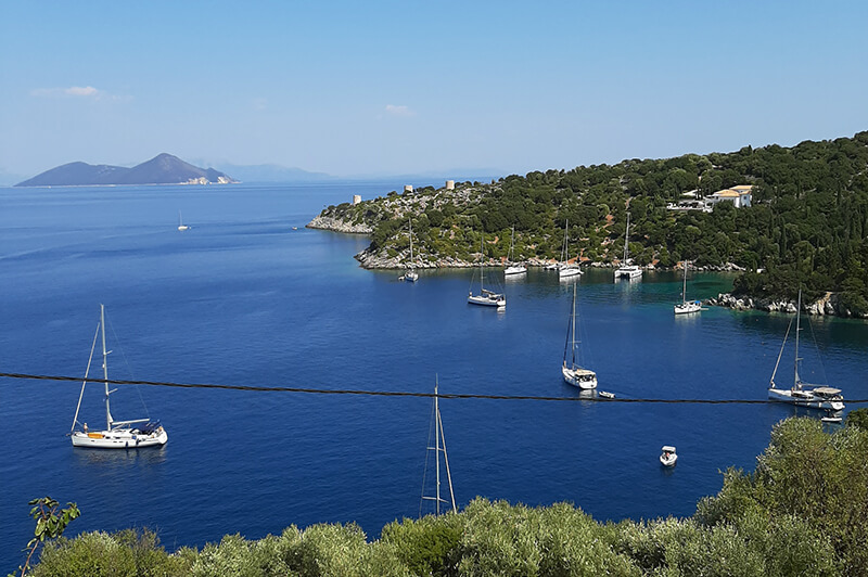 Et view over Anti Paxos bugten Grækenland